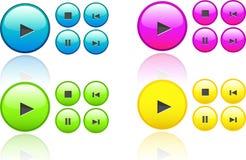 Ramassage de boutons de vecteur de musique Photos stock