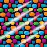 Ramassage de bulles colorées de la parole Photos stock
