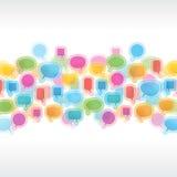 Ramassage de bulles de la parole Image libre de droits