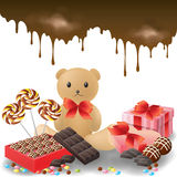 Ramassage de cadeaux de Valentine Photographie stock libre de droits