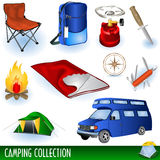 Ramassage de camp Images stock