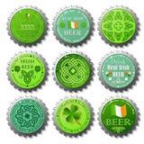 Ramassage de capsules de jour de St Patricks illustration libre de droits