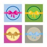 Ramassage de cartes/d'étiquettes de cadeau Images libres de droits