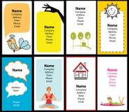 Ramassage de cartes de visite professionnelle de visite élégantes Images libres de droits