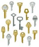 Ramassage de clés - positionnement deux Photos libres de droits