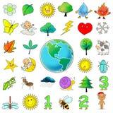 ramassage de clipart (images graphiques) de graphisme de 33 dessins animés Photos stock