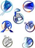 Ramassage de constructions symboliques illustration stock
