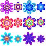 Ramassage de couleurs géométriques. Photo libre de droits