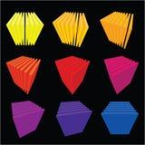Ramassage de cubes abstraits Photos libres de droits