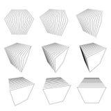 Ramassage de cubes en fractionnement Photo libre de droits