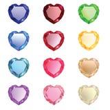 Ramassage de diamants sous forme de coeur Photographie stock libre de droits