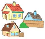 Ramassage de diverses maisons illustration stock