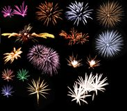 Ramassage de feux d'artifice photos stock