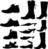 Ramassage de footwears Photos libres de droits