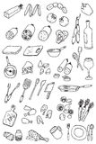Ramassage de graphisme de nourriture d'attraction de main Photos libres de droits