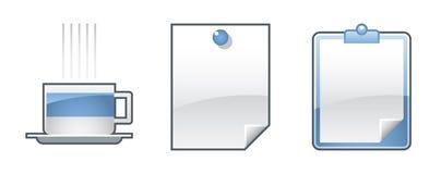 Ramassage de graphismes de bureau - positionnement 7 Images libres de droits