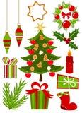 Ramassage de graphismes de Noël Image libre de droits