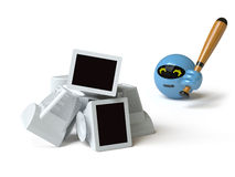 Ramassage de jouet - poussée ici Photo stock