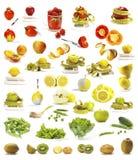 Ramassage de légumes et de fruits Photographie stock libre de droits
