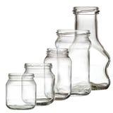 Ramassage de la bouteille en verre Photos stock