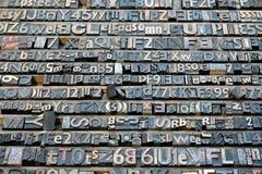 Ramassage de lettre de lithographie image stock