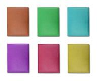 Ramassage de livre en cuir coloré de note de couverture Photo stock