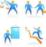 Ramassage de logos abstraits de gens - 11 Image libre de droits