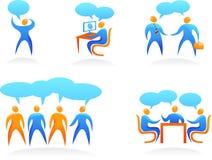 Ramassage de logos abstraits de gens - 4 Images libres de droits