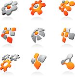 Ramassage de logos/de graphismes abstraits Photos stock