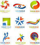 Ramassage de logos et de graphismes de FLÈCHES Photos stock