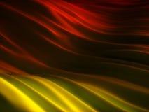 Ramassage de milieux - plis de rouge et de jaune Photo libre de droits