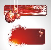 Ramassage de Noël avec des drapeaux Images libres de droits