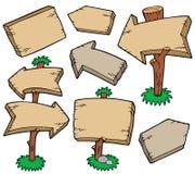 Ramassage de panneaux en bois Image libre de droits