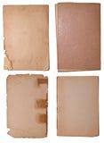 Ramassage de peu de vieilles parties de papier Images libres de droits