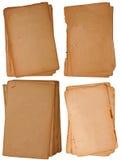 Ramassage de peu de vieilles parties de papier Image libre de droits