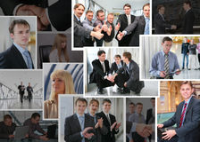 Ramassage de photos d'affaires avec des gens, collage Images stock