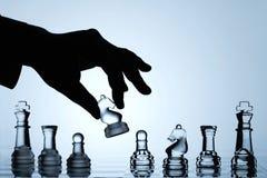 Ramassage de positionnement d'échecs : Mouvement de cheval Photographie stock