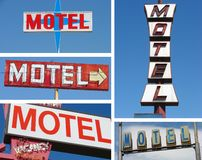 Ramassage de signes de motel Image stock