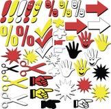 Ramassage de signes graphiques Photographie stock
