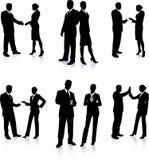 Ramassage de silhouette d'équipe d'affaires Photographie stock