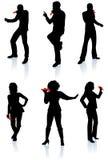 Ramassage de silhouette de chanteurs Image libre de droits