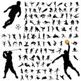 Ramassage de silhouette de sport Photos stock