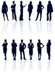 Ramassage de silhouettes de femme. Photo stock