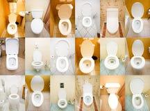 Ramassage de toilettes Images libres de droits