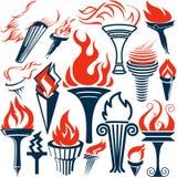 Ramassage de torche Image libre de droits