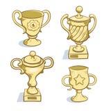 Ramassage de trophée d'or Image stock