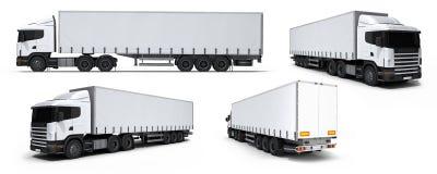 Ramassage de véhicule de distribution de camion de cargaison Photographie stock libre de droits