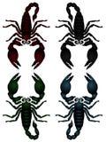 Ramassage de vecteur de scorpions Photo stock