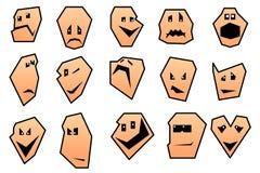 Ramassage de visages de smiley de dessin animé. Images libres de droits