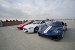 Ramassage de voiture de sport Photos stock